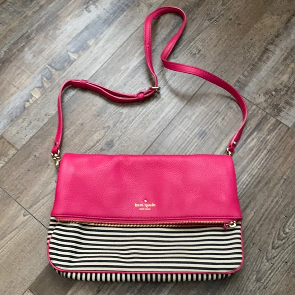 Kate Spade fold over pink leather purse